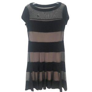 Joseph Ribkoff Black Layered Sheer Cocktail Dress